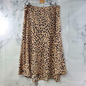 Apt 9 Animal Print Midi Skirt